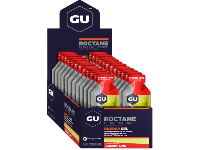 GU Energy Roctane Energy Gel Box 24x32g, Cherry Lime (2019) | Energy gels